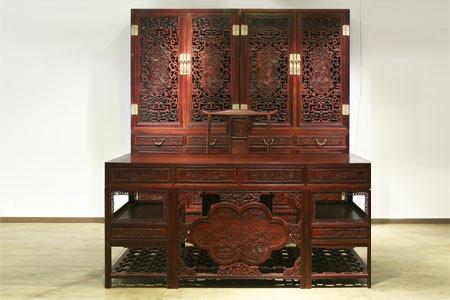红日紫檀书房家具